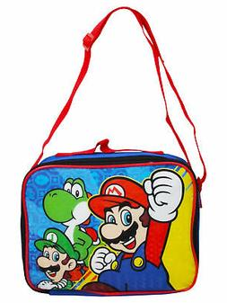 Boys Super Mario Bros Insulated Lunch Bag with Shoulder Stra