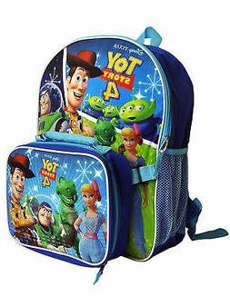 "Boys Toy Story 4 16"" Backpack & Detachable Insulated Lunch B"
