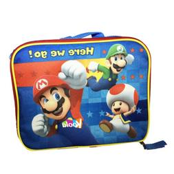 Super Mario Bros School Insulated Lunch Bag Kids Boys NEW
