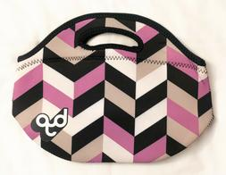 BYO by BUILT Rambler Neoprene Lunch Bag NEW Chevron Purple B