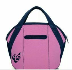 Built BYO Midtown Soft Neoprene Lunch Bag Tote Purple Blue W