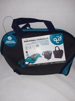 BYO Built Placemat Blue Lunch Bag Tote NWT Insulated Neopr