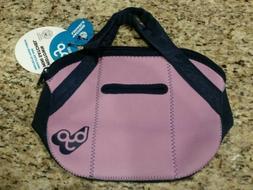 BYO Purple Midtown Mini Satchel Insulated Neoprene Lunch Bag