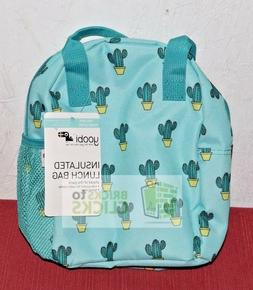 Yoobi Cactus Insulated Lunch Bag, with Water Bottle Pocket -