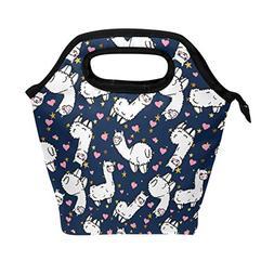 ALAZA Cartoon Animal Blue Insulated Lunch Box Cooler Bag,Alp