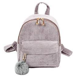 Clearance Sale,Realdo Girl Corduroy School Bag Student Backp