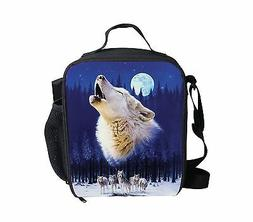 Cool Wolf Blue Thermal Waterproof Lunch Bag Cooler Bento Box