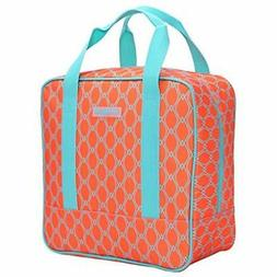 Cooler Bag Tote Adult Insulated Lunch Bag, Large, Bright Ora