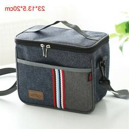 Cooler Insulated Canvas Picnic Lunch Bag Box Thermal Food Pi