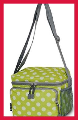 Everest Cooler Lunch Bag Onesize GREEN Dots Mens Abis Appare