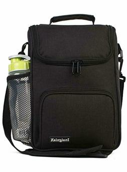 Crossbody Lunch Bag Box with Cooler and Water Bottle Holder
