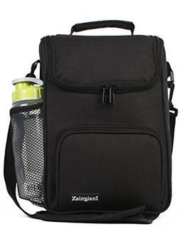 Crossbody Lunch Bag: InsigniaX Unisex Lunch Box For Work Men