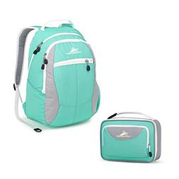 High Sierra Curve Backpack + Single Compartment Lunch Kit -
