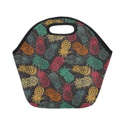 Custom Neoprene Pineapple Fruits Lunch Bags Insulated Picnic