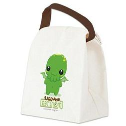 cute cthulhu canvas lunch bag with strap