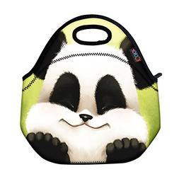 ICOLOR Cute Panda Boys Girls Insulated Neoprene Lunch Bag To
