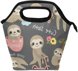 Cute Sloth Lunch Box For Kids Girls Insulated Lunch Bag Cool