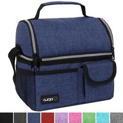 Double Deck Lunch Bag Dual Compartment for Women Men Work Of