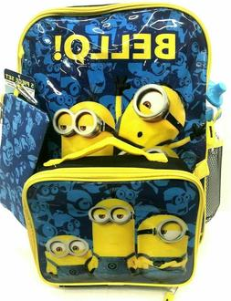 Despicable Me Minion 5 Piece Backpack With Lunch Bag, Pencil