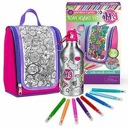 "DIY Snack Arts & Crafts Pack - Color-Your-Own Lunch Bag "" Wa"