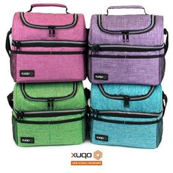 double deck lunch bag dual compartment