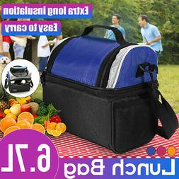 Double Deck Lunch Bag for Women Men Work Office Insulated Bo