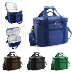 Double layer Insulated Thermal Lunch Bag Large Capacity Trav