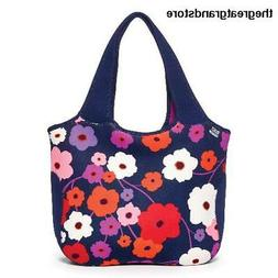 BUILT NY Essential Neoprene Shopping Tote Bag, Lush Flower B