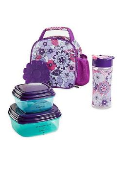 Fit & Fresh Insulated Lunch Bag with Reusable Container Set