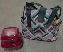 Fit & Fresh Insulated Lunch Bag Kit, Includes 2 Containers &