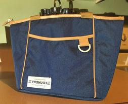 Fit & Fresh Insulated Lunch Bag Nautical Blue With Brown Tri