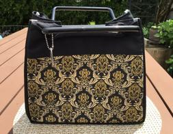 Fit & Fresh Lunch Bag Tote Insulated Black Gold Classic Patt