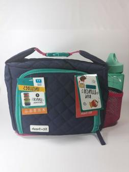FIT + FRESH INSULATED LUNCH BAG WITH SNACK CONTAINERS, ICE P