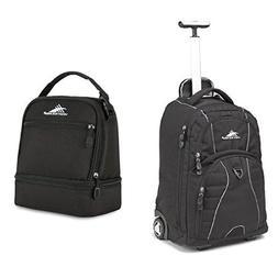 High Sierra Freewheel Wheeled Book Bag Backpack, Black and H