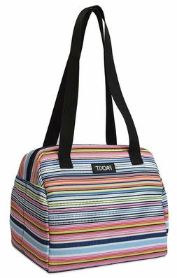 PackIt Freezable Hampton Lunch Bag, Blanket Stripe