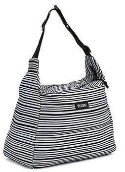 PackIt Freezable Hobo Lunch Bag, Wobbly Stripes