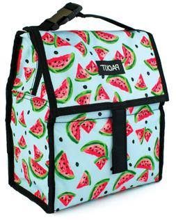 PackIt Freezable Lunch Bag with Zip Closure, Watermelon Part