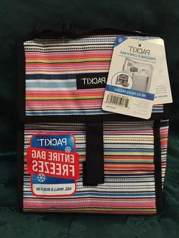 PackIt Freezable Lunch Bag with Zip Closure, Blanket Stripe