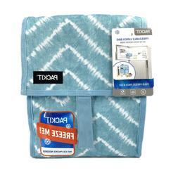 PackIt Freezable Lunch Bag with Zip Closure, Aqua Tie Dye