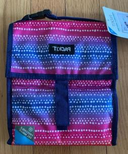 PackIt Freezable Lunch Bag with Zip Closure in Pink Purple A