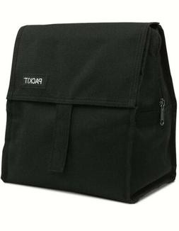 PackIt Freezable Lunch Bag with Zip Closure in Black