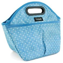 PackIt Freezable Traveler Lunch Bag, Chambray Dot