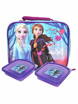 Disney Frozen II Insulated Lunch Bag & Sandwich Containers