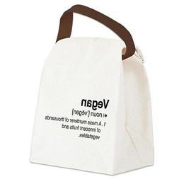 CafePress Funny Vegan Definition Canvas Lunch Bag with Strap