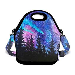 POP MKYTH Galaxy Starry Forest Trees Thing Neoprene Lunch To