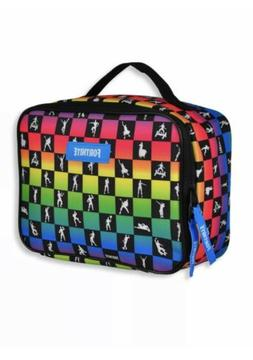 FORTNITE Game Lunch box School Lunch Bag Kit Multi Color NEW