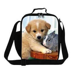 Generic Fashionable Dog Lunch Bags for Kids School Adult Foo