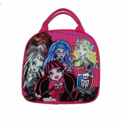 Monster High Ghoulishly Girls Canvas Insulated Lunch Bag-Pin