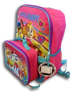 "Paw Patrol Girls' 16"" Large Backpack with Detachable Insulat"