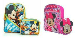 Disney Girls/Boys Minnie and Mickey Mouse Backpack with Deta